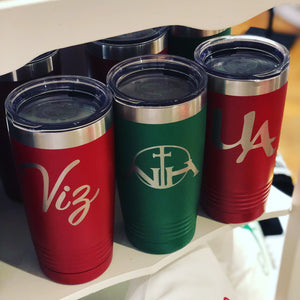 Personalized Ringneck Tumbler w/Lid - 20oz.