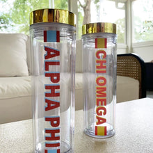 Load image into Gallery viewer, Striped Sorority Water Bottle