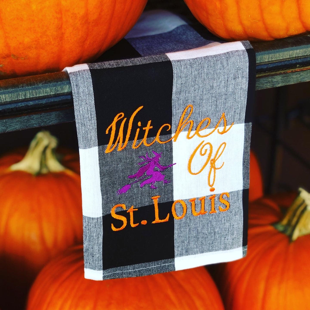 Witches of St. Louis Dish Towel