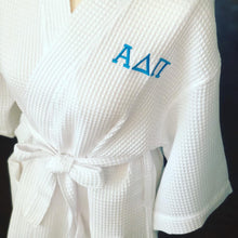 Load image into Gallery viewer, White Waffle Sorority Robe