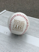 Load image into Gallery viewer, Personalized Baseball Announcement