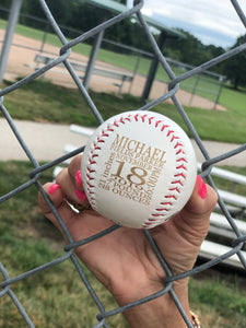 Personalized Baseball Announcement