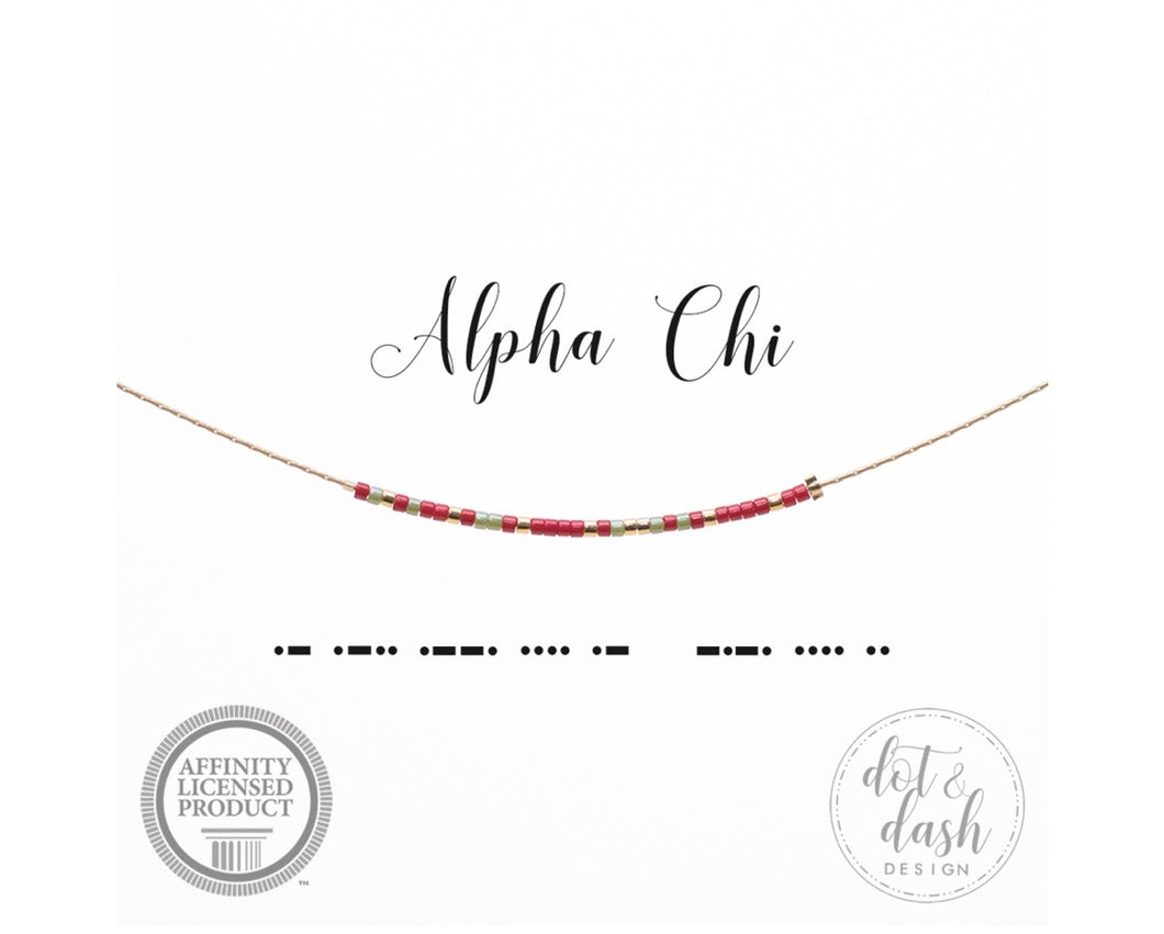 Morse Code Necklace - Sorority