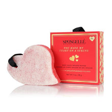 Load image into Gallery viewer, Body Wash Infused Buffer Sponge w/Gift Box - Heart On A String