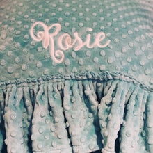 Load image into Gallery viewer, Personalized Minky Dot Pillowcase - Ruffle