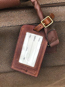 Needlepoint Luggage Tag - Blues