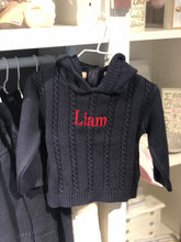 Load image into Gallery viewer, Personalized Hooded Baby Sweater
