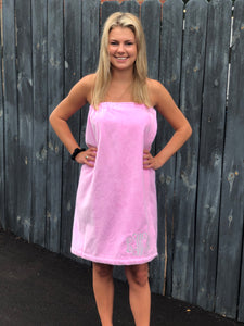 Personalized Velour Spa Wrap