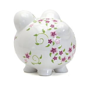 Personalized Large Shabby Chic Piggy Bank