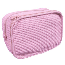 Load image into Gallery viewer, Personalized Waffle Weave Cosmetic Bag