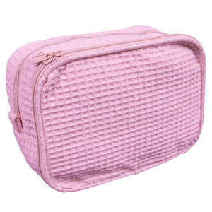 Personalized Waffle Weave Cosmetic Bag