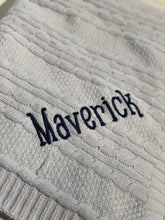 Load image into Gallery viewer, Personalized Chenille Baby Blanket