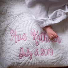 Load image into Gallery viewer, Personalized Baby Quilt