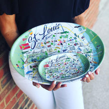 Load image into Gallery viewer, St. Louis Melamine Tidbit Tray
