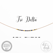 Load image into Gallery viewer, Morse Code Necklace - Sorority