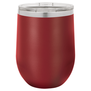 Personalized Stainless Steel Wine Tumbler w/Lid - 12oz.