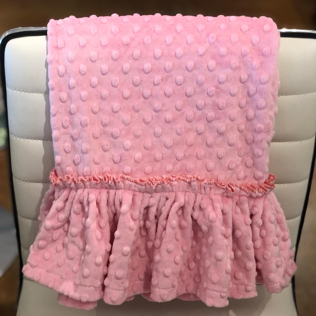 Personalized Minky Dot Pillowcase - Ruffle