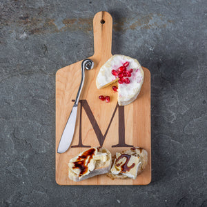 Personalized Maple Cheese Board, Spreader Set