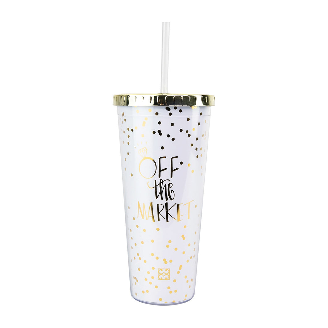 Engagement Tumbler w/Straw - Off The Market