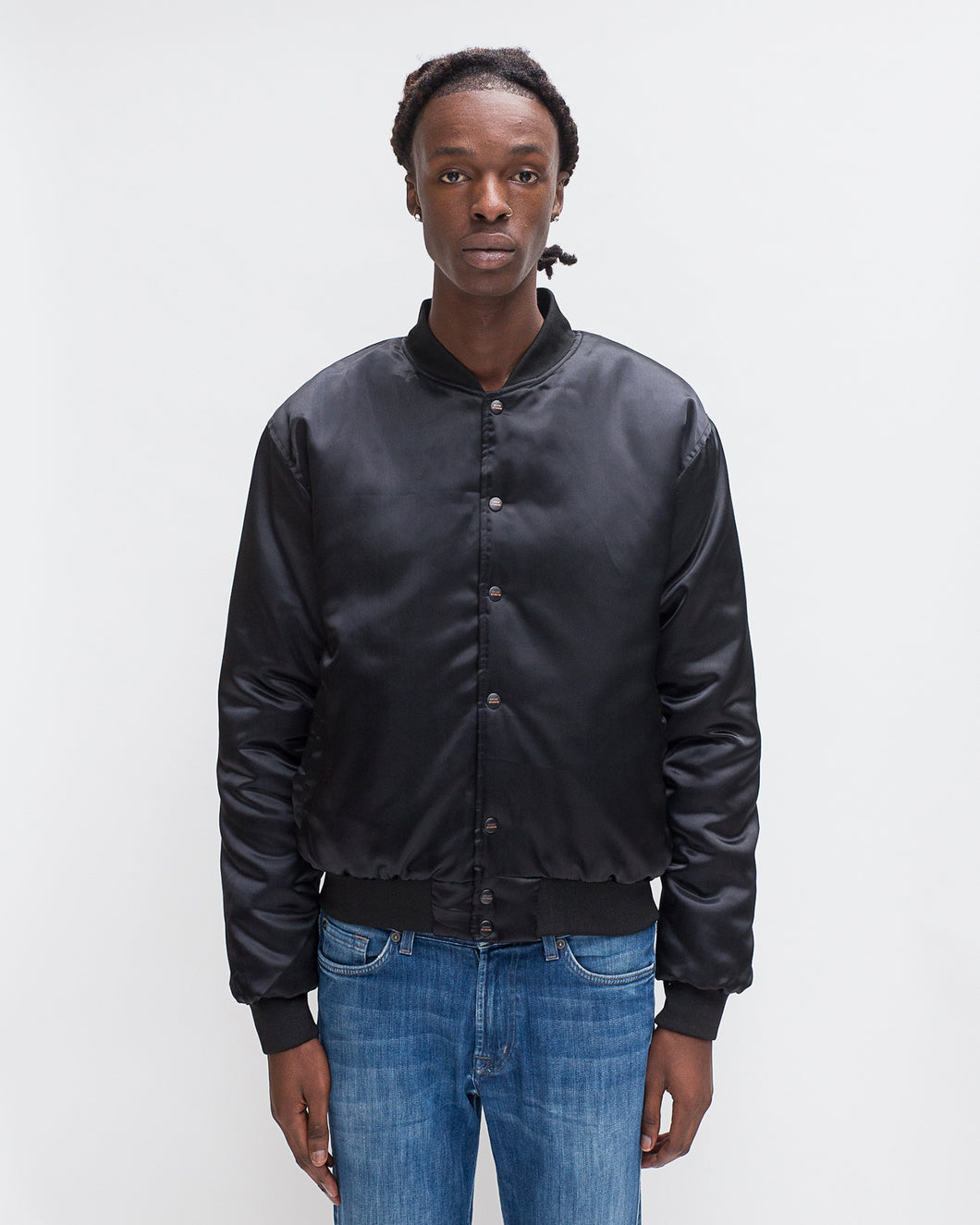 SATIN JACKET BLACK