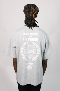 WORLD TEE GREY
