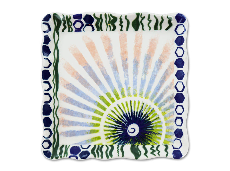 "Sassy Square Plate 7"" - The Artsy Soul"