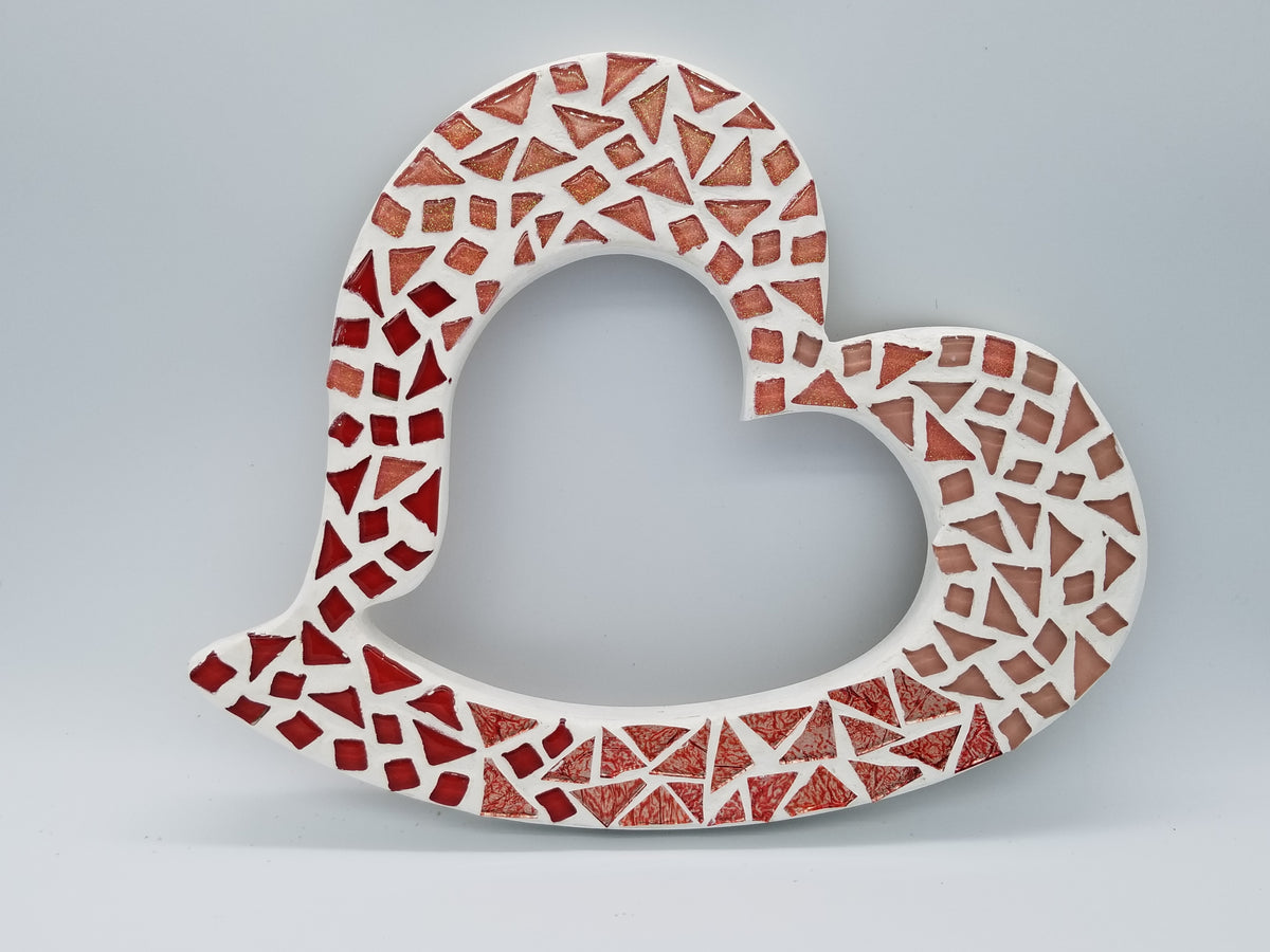 "Funky Heart Plaque Outline 12"" - The Artsy Soul"