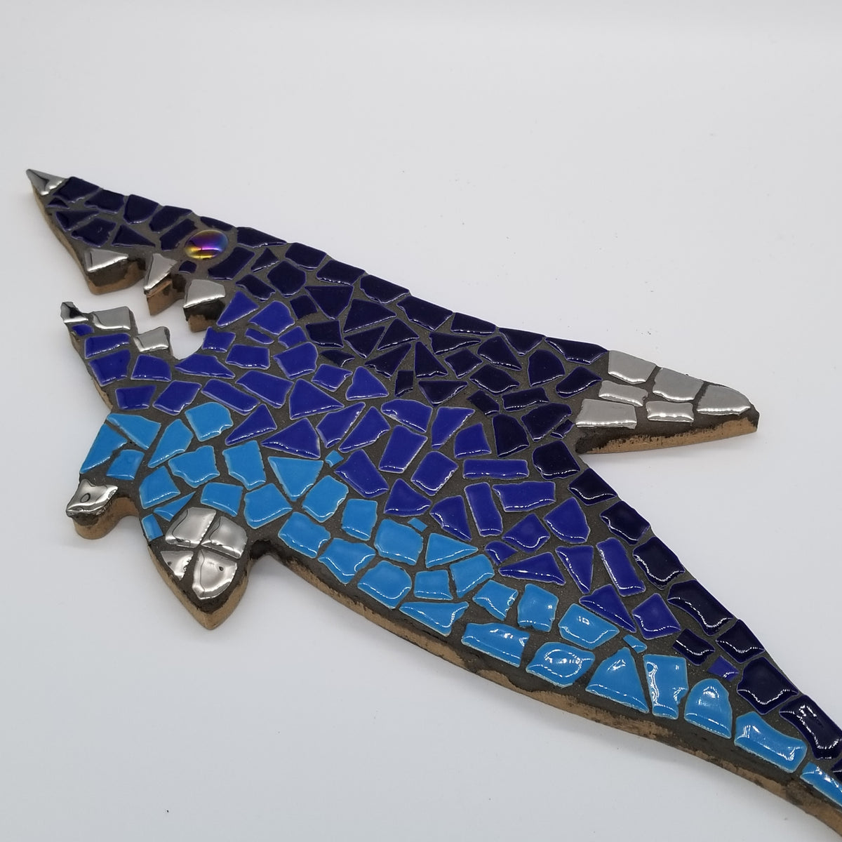 "The Great Blue Shark Mosaic DIY Kit 16"" - The Artsy Soul"