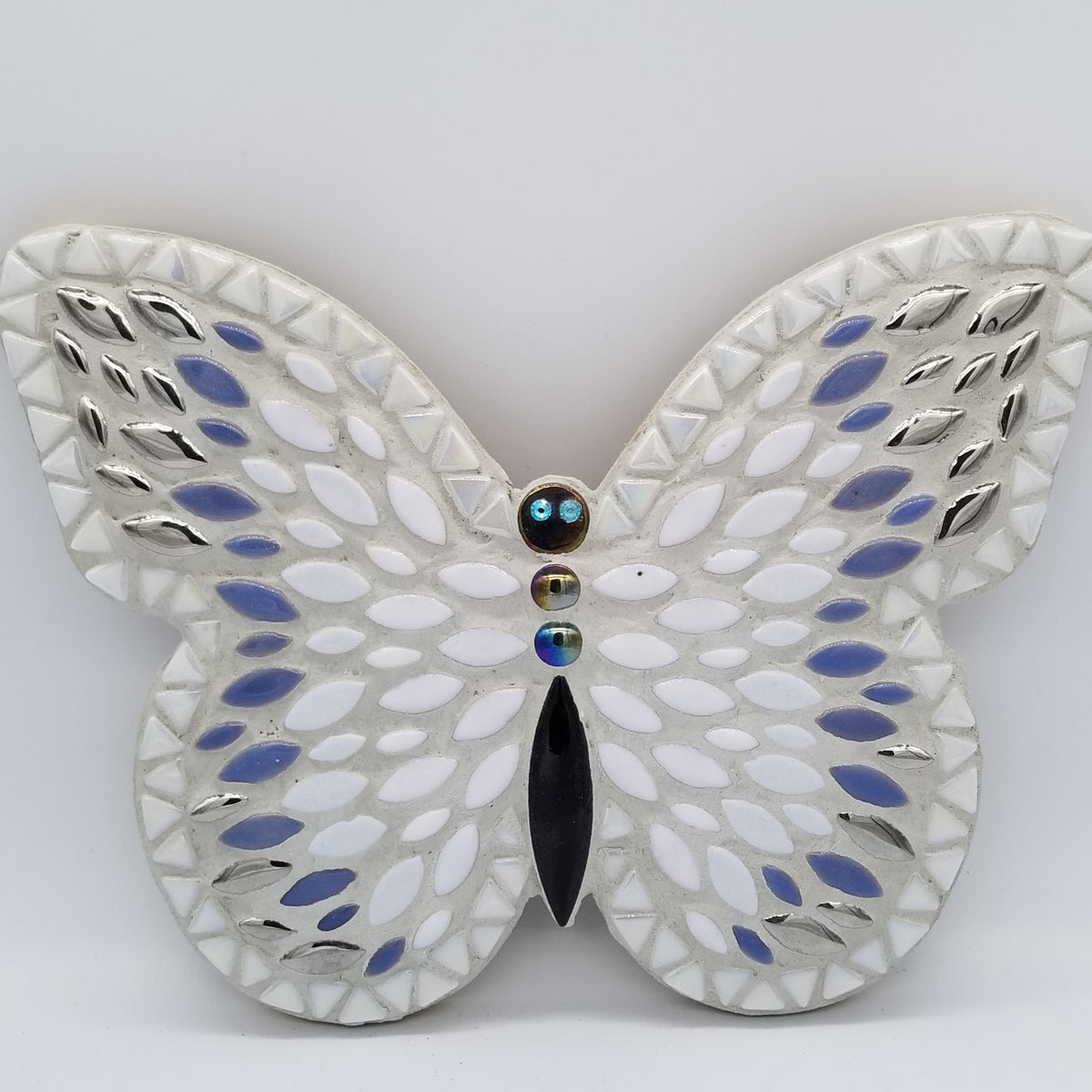 "Admiral Butterfly 10"" DIY Kit White, Blue, Silver - The Artsy Soul"