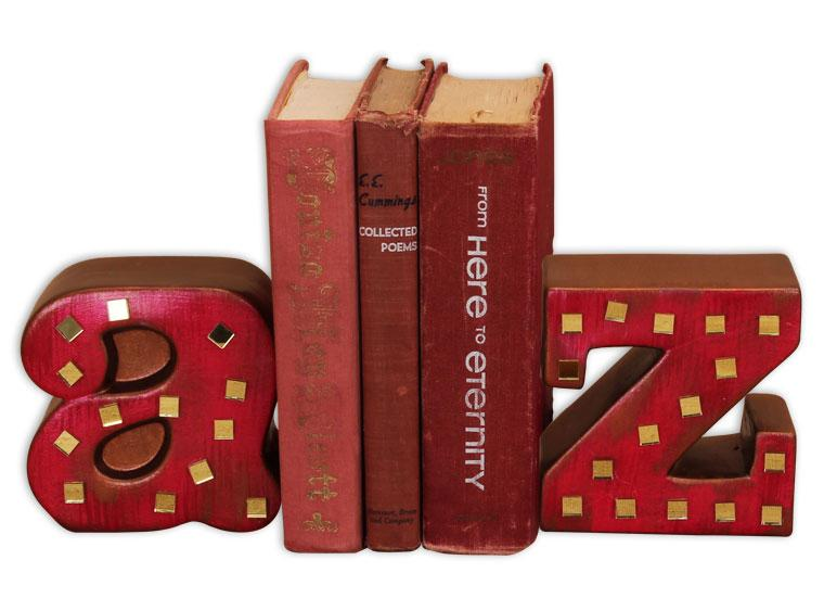 A to Z Bookend Sets - The Artsy Soul