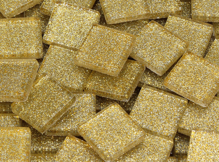 20 MM Cafe au Lait Glitter Mosaic Tile - The Artsy Soul