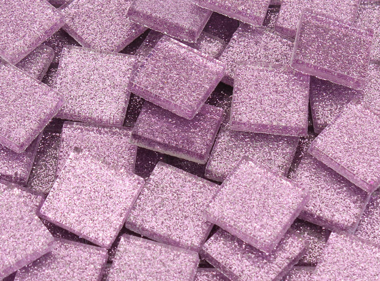 20 MM Lavender Glitter Mosaic Tile - The Artsy Soul