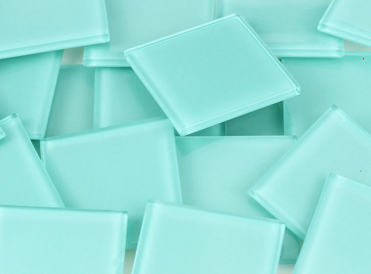48 MM Sea Green Crystal Glass Mosaic Tile - The Artsy Soul