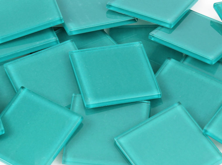 48 MM Teal Crystal Glass Mosaic Tile - The Artsy Soul