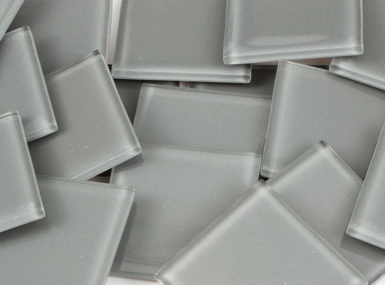 48 MM Gray Crystal Glass Mosaic Tile - The Artsy Soul