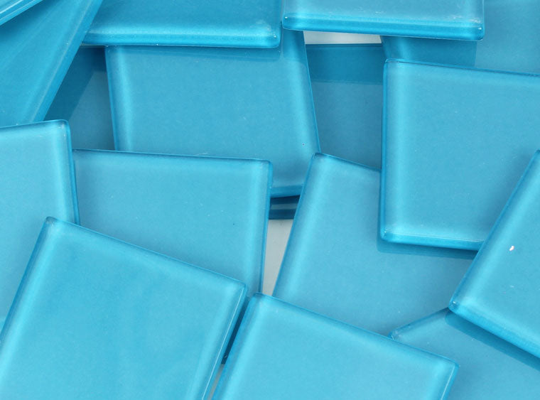 48 MM Persian Blue Crystal Glass Mosaic Tile - The Artsy Soul