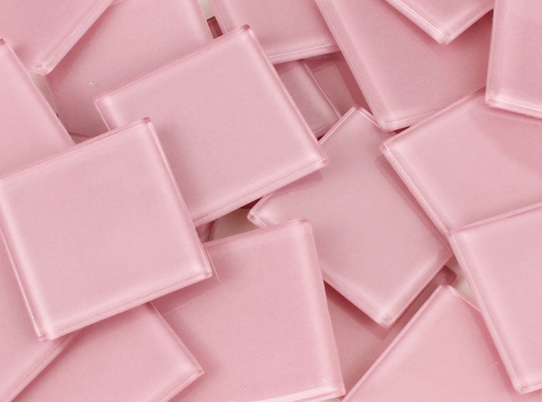 48 MM Baby Pink Crystal Glass Mosaic Tile - The Artsy Soul