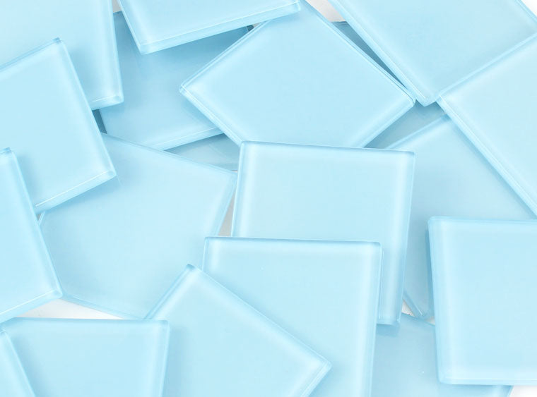 48 MM Baby Blue Crystal Glass Mosaic Tile - The Artsy Soul