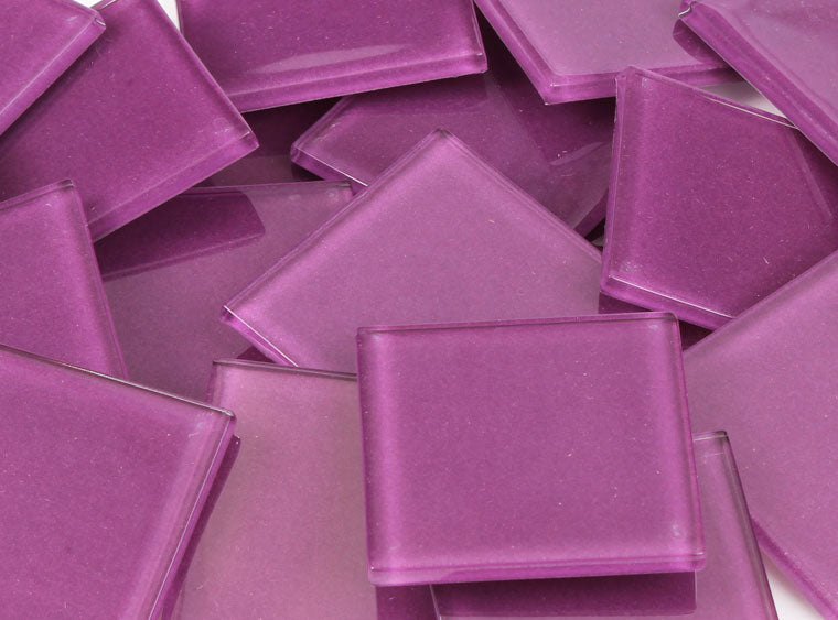 48 MM Violet Crystal Glass Mosaic Tile - The Artsy Soul