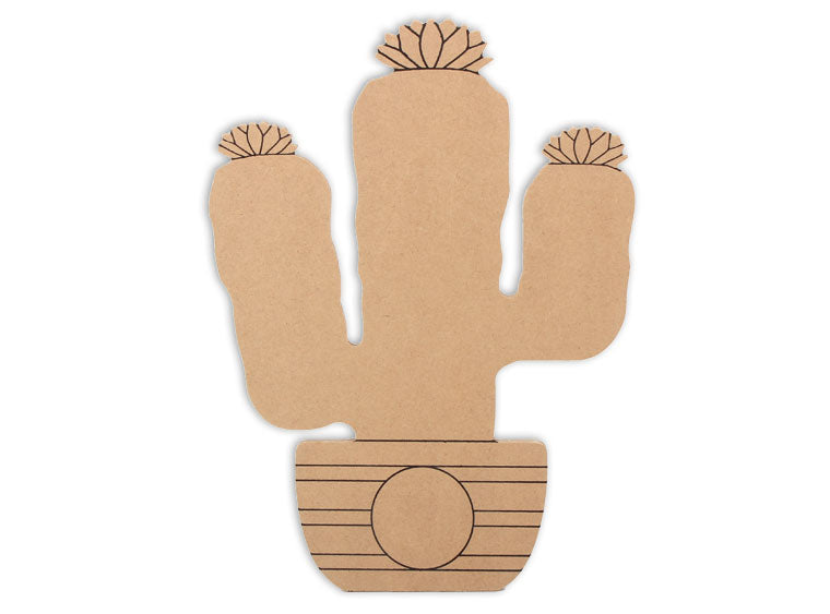 "Cactus Plaque 12"" - The Artsy Soul"