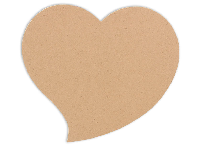 Funky Heart Plaque 8 in. - The Artsy Soul