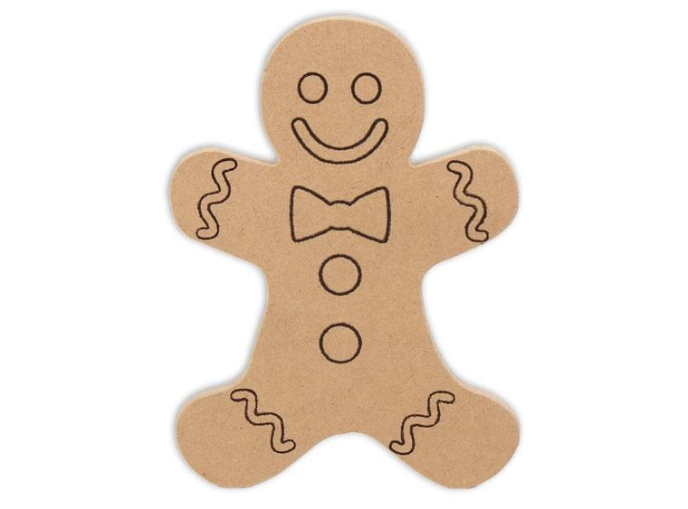 "Gingerbread Man Plaque 6"" - The Artsy Soul"