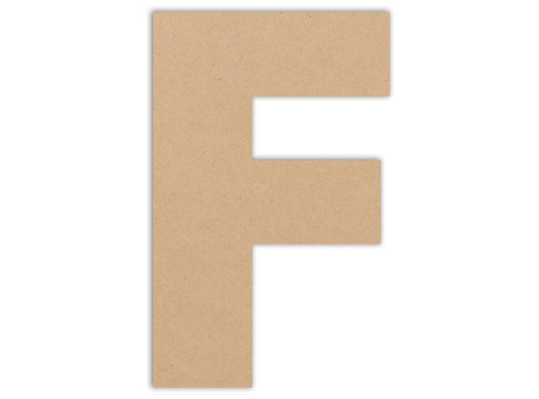 "Letter Plaque - F 6"" - The Artsy Soul"