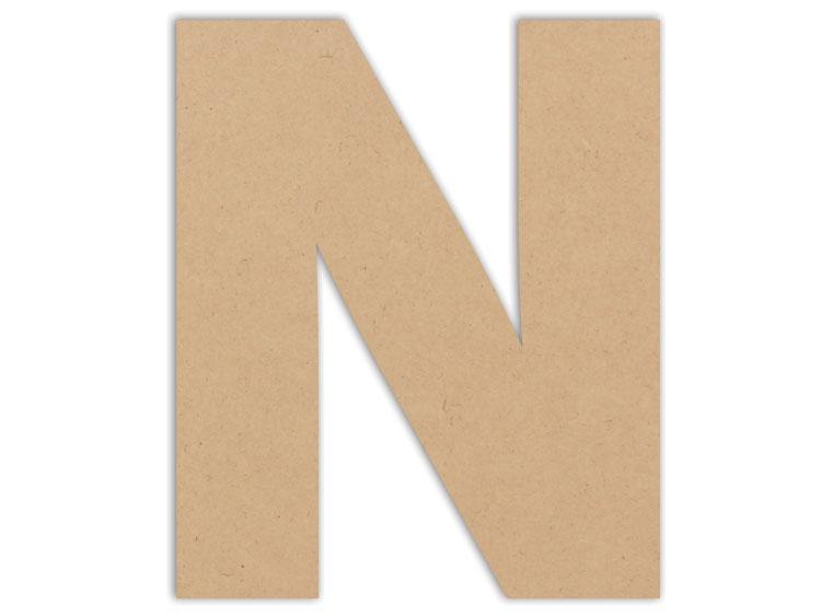 "Letter Plaque - N 6"" - The Artsy Soul"