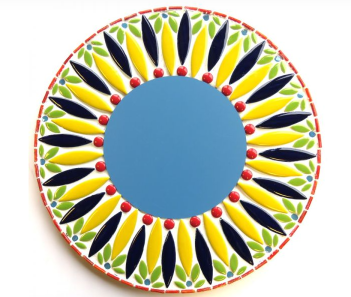 "Mirror 12"" DIY Kit Blue/Yellow - The Artsy Soul"