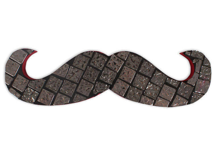 Hipster Mustache Plaque - The Artsy Soul