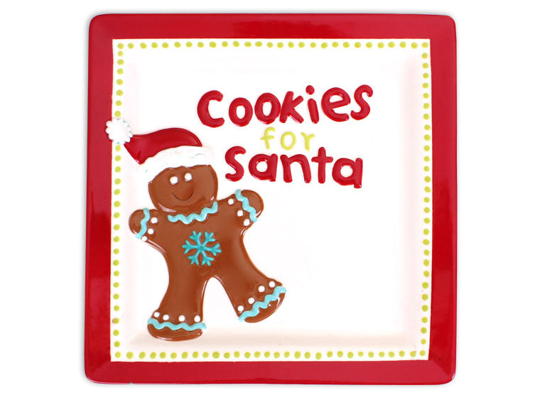 Santa Cookie Plate - The Artsy Soul