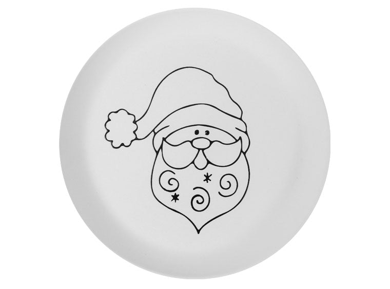 Santa Party Plate - The Artsy Soul