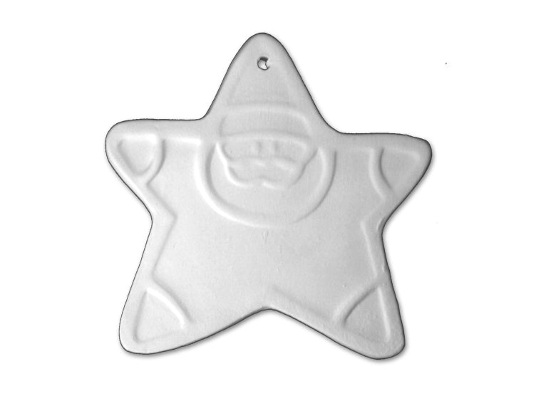 Santa Star Ornament - The Artsy Soul