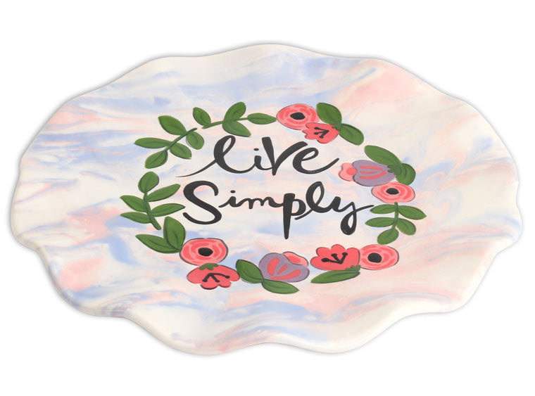 Scalloped Dinner Plate - The Artsy Soul